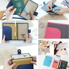 NEW Travel Passport Credit ID Card Wallet Purse Leather Holder Case Document Bag