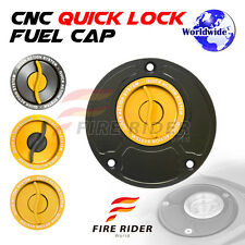 FRW BK/GD CNC Quick Lock Fuel Cap For Ducati SuperSport 750 / 800 / 900 All Year