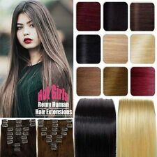 Clip In  Full Head Remy Human Hair Extensions Cheap Price US SELLER FAST MX170