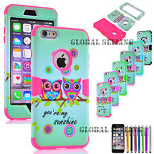 Hybrid Rubber Hard & Soft Protective Hard Case Cover for Apple iPhone 6 6S PLUS