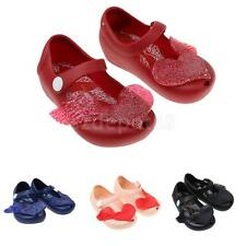 BABY KIDS INFANT GIRLS CUTE HEART JELLY SHOES SUMMER BEACH SANDALS RAIN SHOE NEW