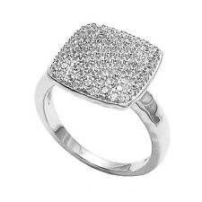925 Sterling Silver Stunning Square 0.77 Carat CZ Ring Size 5-9