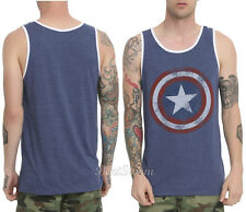Marvel AVENGERS Captain America Logo Shield Men's Tank Top Shirt WINTER SOLDIER