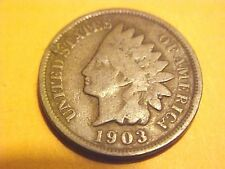US Coins VERY NICE 1903 Good Indian Head Cent Coin Antique Penny #G327