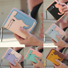 New Girl Cat Purse Card Holder Women Fashion Short Wallet Faux Leather Handbags