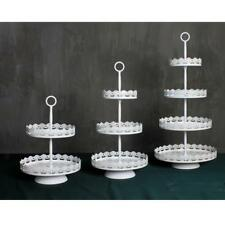 Metal Cupcake Stand Wedding Party Cake Muffin Display Decoration White 2/3 Tier
