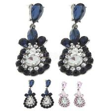 Women Jewelry Party Stud Earings Ethnic Style Crystal Rhinestone Dangle Earrings