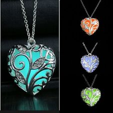 Luminous Steampunk Pretty Fairy Locket Glow In The Dark Pendant Necklace New