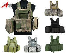 Tactical Military Camo Molle Strike Plate Carrier Combat Vest Paintball Hunting