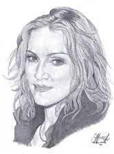 MADONNA Limited Edition art drawing print  in 2 sizes & Card available