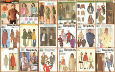 OOP Simplicity Sewing Pattern Misses Blazer Jackets Coats Capes You Pick