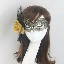 Lady Girls Flower Feather Lace Eye Mask Masquerade Halloween Party Costume