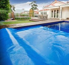 Solar Pool Cover Blanket 12 Mil Heat trap Swimming Pool Reel Rectangle Round