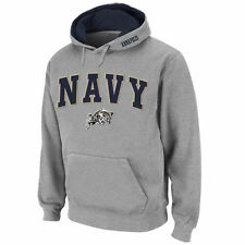 Navy Midshipmen Stadium Athletic Arch & Logo Pullover Hoodie - Gray - College