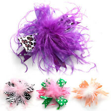 Newborn Baby Kids Feather Headband Headwear Hairdress Hair Band Foot Flower