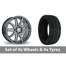 """4 x 19"""" Team Dynamics C1 10 Graphite Alloy Wheel Rims and Tyres -  225/35/19"""