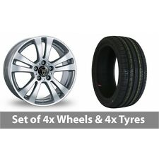 """4 x 15"""" Wolfrace DH Silver Alloy Wheel Rims and Tyres -  205/60/15"""