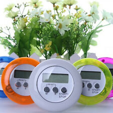 Digital Magnetic LCD Stopwatch Timer Kitchen Racing Alarm Clock Round Shape 1pc