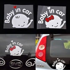 Cute Cartoon Car Stickers Reflective Styling Baby In Car Warming Stickers Decal