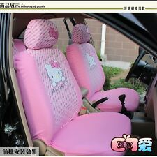 Pink 16PCs Hello Kitty Auto/Car Seat Covers Set Cushions Washable For 4 Seasons