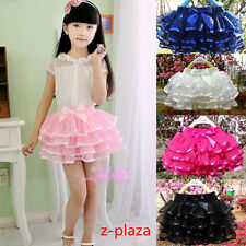 Baby Girls Kids Wedding Party Tutu Skirt Ballet Dancing Princess Skirt 1-15Y