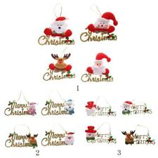 4 Cute Doll Merry Christmas Hangings Xmas Christmas Tree Wall Door Hanging Decor