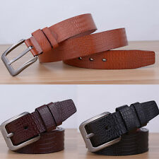 Fashion Men Casual Waistband Faux Leather Metal Pin Buckle Belt Waist Strap
