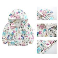 New Cartoon Kids Boys Girls Animals Printed Jacket Coat Casual Hooded Outerwear