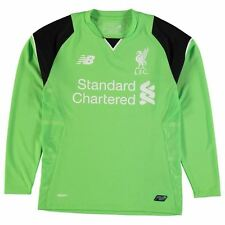 New Balance Kids Liverpool Home Goalkeeper Shirt 2016 2017 Junior Boys Crew Tee