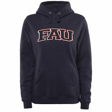 FAU Owls Women's Arch Name Pullover Hoodie - Navy - College