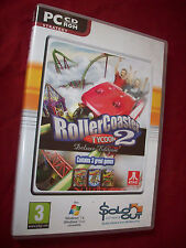 Rollercoaster Tycoon 2 Deluxe PC Game As Seen Disc Excellent!