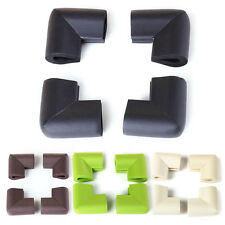 4PC Baby Safety Table Desk Shelf Corner Edge Guard Cushion Protector Green/Beige