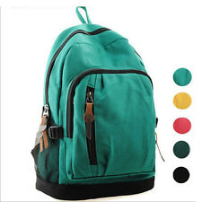 Women Girl Canvas School Bags Bookbag Backpack Travel Shoulder Satchel Rucksack
