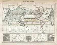 1852 Meyer Map or Chart of the Winds
