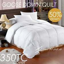 New 50% Goose Down & Feather Duvet Quilt Doona King/Queen/Double/Single Size Bed