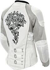 Joe Rocket Alter Ego 3.0 Womens Textile Motorcycle Jacket - Silver/White