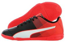 Puma Adreno II IT Jr 10347607 Black White Red Indoor Soccer Shoes Medium Youth