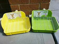 Bunny / Rabbit Corner Litter Tray Toilet with Hook & Wire Grid