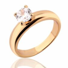 18k gold filled white Solitaire  sapphire Journey wedding party ring Sz5-Sz9