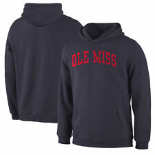Ole Miss Rebels Basic Arch Pullover Hoodie - Navy - College