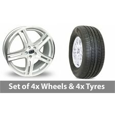 "4 x 15"" Diamond Equinox Silver Polished Alloy Wheel Rims and Tyres -  225/60/16"