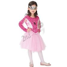 Childs Spider Fancy Dress Costume Halloween Kids New Girls Outfit Cosplay + Mask