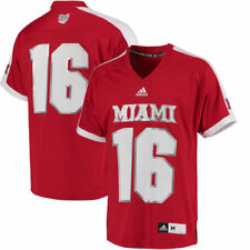 #16 Miami University RedHawks adidas Replica Football Jersey - Red - College