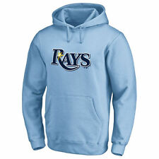 Tampa Bay Rays Secondary Color Primary Logo Pullover Hoodie - Light Blue - MLB