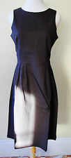 Brand New NEW GIRL Chocolate Brown Pinstriped Corporate Dress - sizes 8,10,12,14