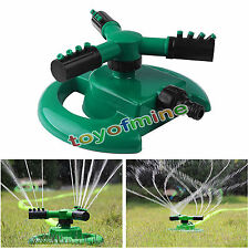 Fully Circle Rotating Sprinkler Hozelock Compatible Garden Pipe Hose Fitting GRN