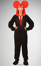 NEW Deadmau5 Adult Hooded One Piece Pajamas With Removable Feet Costume RED Hood