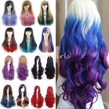 Quality Thick Cosplay Wigs Long Hair Party Fancy Dress Lady Costume Full Wig #Z6