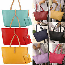 New Designer Large Womens PU Leather Tote Shoulder Bag Handbag Ladies Messenger