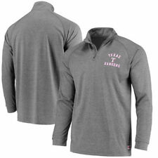 Texas Rangers Stitches Team Logo Quarter-Zip Pullover Jacket - Charcoal - MLB
